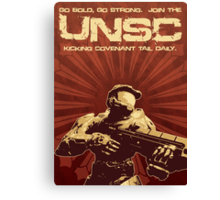 Halo 4 UNSC Poster (Going Bold) Canvas Print