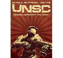 Halo 4 UNSC Poster (Going Bold) Photographic Print