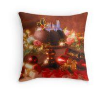 Christmas Pud & flaming brandy Throw Pillow