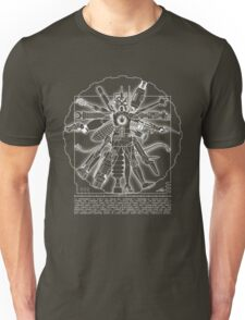 Vitruvian Machine (White) Unisex T-Shirt