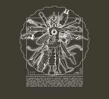 Vitruvian Machine (White) Unisex T-Shirt