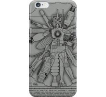 Vitruvian Machine (Black) iPhone Case/Skin