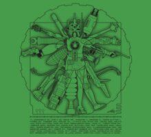 Vitruvian Machine (Black) Kids Tee