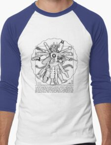 Vitruvian Machine (Black) Men's Baseball ¾ T-Shirt