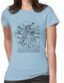 Vitruvian Machine (Black) Womens Fitted T-Shirt