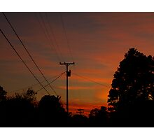 Sunset In Time Photographic Print