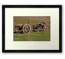 Dilapidated Wagon Framed Print