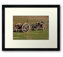 Dilapidated Wagon Framed Print