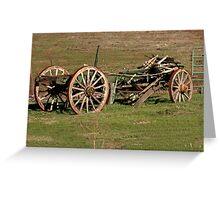 Dilapidated Wagon Greeting Card