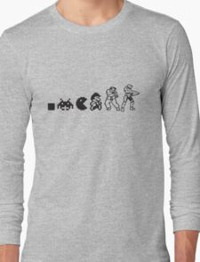 Resolution Evolution - A Quick Video Game History Long Sleeve T-Shirt