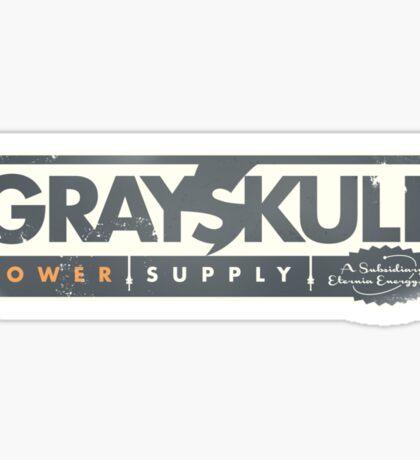 GREYSKULL Power Supply - A Subsidiary of Eternia Energy Sticker