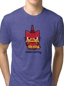 Hello (Angry) Unikitty Tri-blend T-Shirt