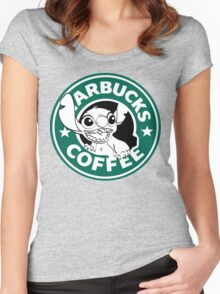 No more coffee for you - Stitch Starbucks logo Women's Fitted Scoop T-Shirt