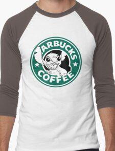 No more coffee for you - Stitch Starbucks logo Men's Baseball ¾ T-Shirt