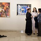 Exhibiting my painting in the Ralli Museum by Madalena Lobao-Tello