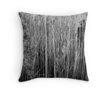 Hide (BW) Throw Pillow