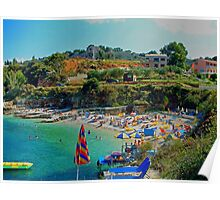 Kassiopi Beach Poster