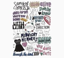 midnight memories collage COLORED Kids Clothes