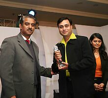 RECEIVED CNN YOUNG PHOTOJOURNALIST OF THE YEAR 2007 AWARD,AT MAURYA SHERATON NEW DELHI INDIA  by sujansingh