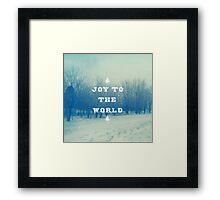 Joy To The World Framed Print