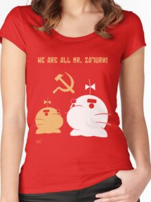 WE ALL ARE MR. SATURN! Women's Fitted Scoop T-Shirt