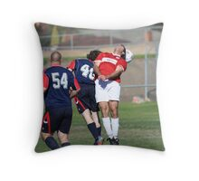 """""""Snoozing during the game"""" Throw Pillow"""