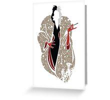 Cruella's Dream Coat Greeting Card