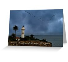 Storm brewing off Point Vicente - card 2 Greeting Card