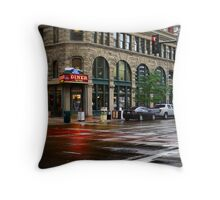 Rocky Mountain Diner Throw Pillow