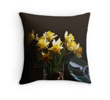 A hint of Spring at Christmas Throw Pillow