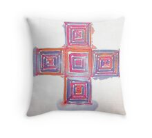 Silk blocks Throw Pillow