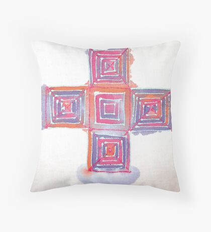Silk blocks Throw Pillow