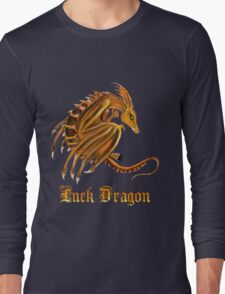Luck Dragon with letters Long Sleeve T-Shirt