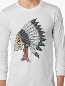 indian (skull) Long Sleeve T-Shirt