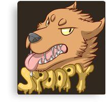 Spoopy Werewolf Canvas Print