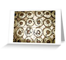 Comic Abstract Reese Cup Cookies Greeting Card