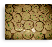 Comic Abstract M&M Cookies Canvas Print
