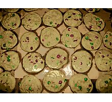 Comic Abstract M&M Cookies Photographic Print