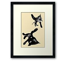 player cats Framed Print