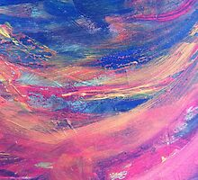 Blue and Pink Canvas by Ffion Thomas