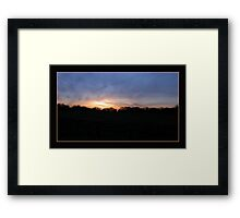 First Dawn Framed Print