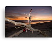 A Beach Bum's Christmas Tree Canvas Print