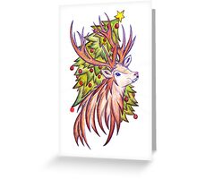 Christmas Stag  Greeting Card