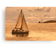 Sailing on a Sea of Gold Canvas Print
