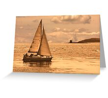 Sailing on a Sea of Gold Greeting Card