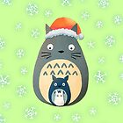 Totoro Christmas by LaraFrizzell