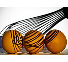 Egg Whisk Shadow Photographic Print