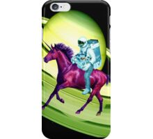Astronaut Rides a Space Horse on the Rings of Saturn iPhone Case/Skin