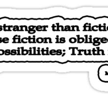 Stranger Than Fiction, Mark Twain Sticker