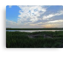 Beautiful Skies In Sunset Beach Canvas Print